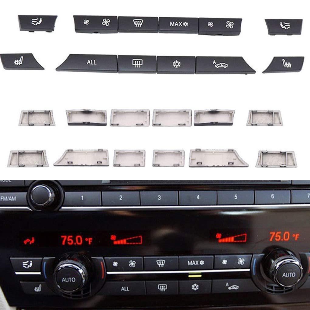 Lorsoul 12st Auto-Klimaanlage-Schalter Tasten Tastenkappen Reparatursatz Ersatz f/ür BMW 5//7 Serise F10 F07 61319313923