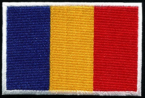 - Flag of Romania Romanian Central Europe embroidered applique iron-on patch new