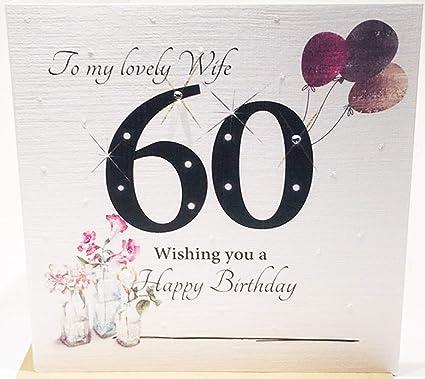 Tarjeta de felicitación de 60 cumpleaños para una esposa ...
