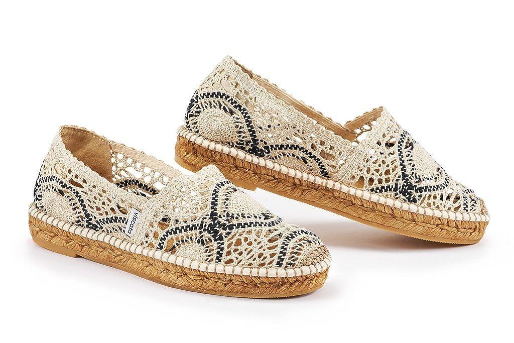 Viscata Garraf Ganchillo de Las Mujeres Pisos, auténtica y Original español Made Espadrilles: Amazon.es: Zapatos y complementos