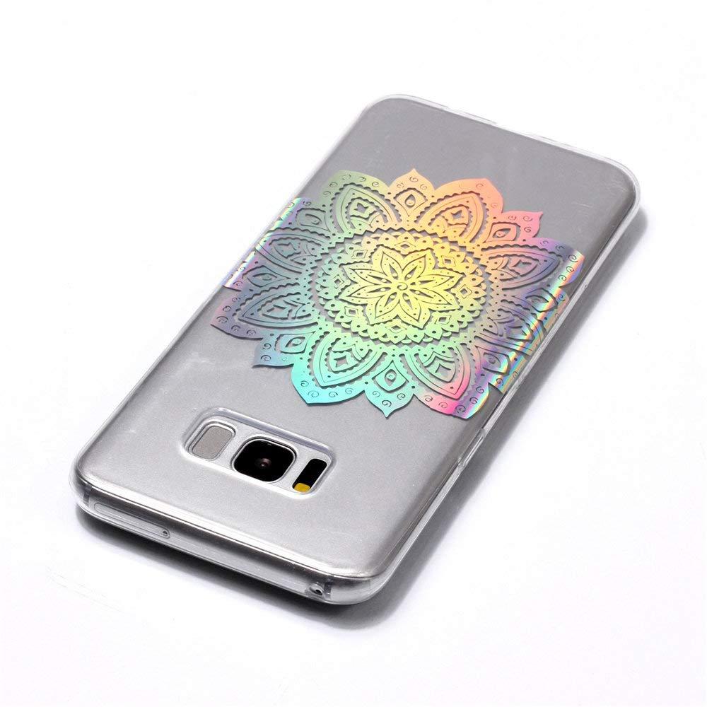 4 MHHQ Kristall Funkeln Glitzer Laser Handyh/ülle Ultra D/ünn Schutzh/ülle Silikon Transparent mit Muster Weich TPU Case Backcover f/ür Samsung Samsung Galaxy S8 Plus Samsung Galaxy S8 Plus H/ülle