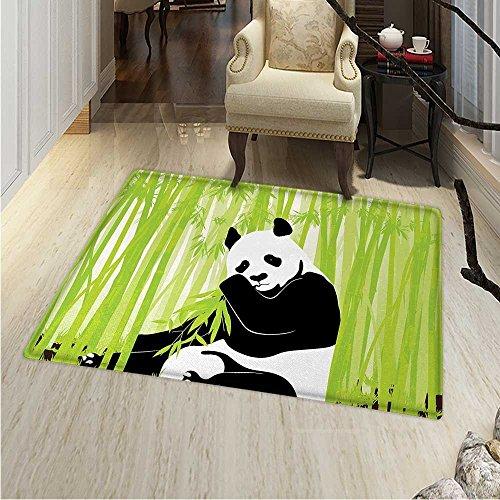Panda Anti-Skid Area Rug Panda Bear in Bamboo Forest Jungle Oriental Nature Wildlife Tropic Cartoon Art Soft Area Rugs 48