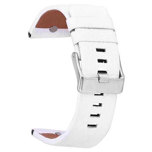 6e3c4933b4b2 Pulseras 26mm de Cuero Correa de Cuero Reloj Banda con Hebilla de Acero  Inoxidable para Las Hombre  Amazon.es  Relojes