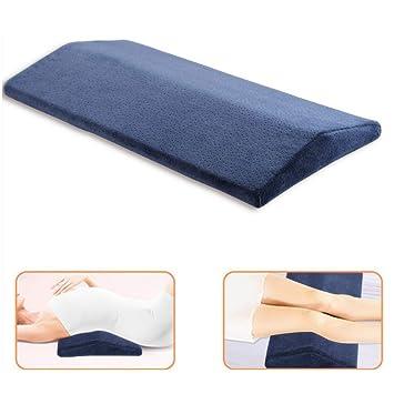 CompuClever Memory Foam Kissen f/ür R/ückenschmerzen Orthop/ädische Lordosenst/ütze Keilkissen Taillenkissen zum Schlafen auf der Seite oder im R/ücken Blau