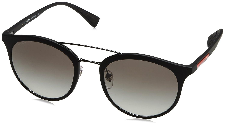 Prada Sport 0PS04RS DG00A7 54 gafas de sol, Negro (Black Rubber/Grey), Hombre