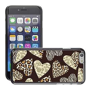 """Print Motif Coque de protection Case Cover // V00002734 corazones con la piel animal del patrón // Apple iPhone 6 6S 6G 4.7"""""""
