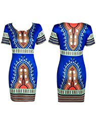 Changeshopping Women Traditional African Print Dashiki Bodycon Sexy Special Dress
