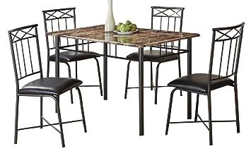 Amazon.com: Coaster Home Furnishings 150115 5-Piece Casual Dining ...