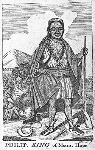 Metacomet (C1639-1676) Nalso Known As King Philip Or Metacom Chief Of The Wampanoag Native Americans Copper Engraving 1772 By Paul Revere Poster Print by (18 x 24)