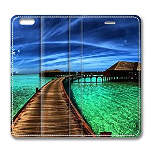 iPhone 6 4.7inch Leather Case - Bungalows On The Ocean Fashion Luxury Protective Slim Fit Skin Leather Cover For Iphone 6 [Stand Feature] [Slim - fit] Flip Leather Case Cover for New iPhone 6