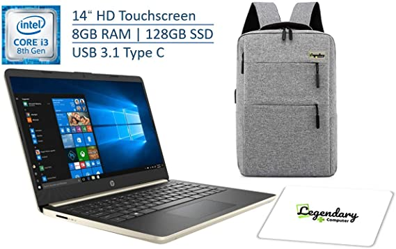2020 HP 14 Inch HD Touchscreen Premium Laptop PC