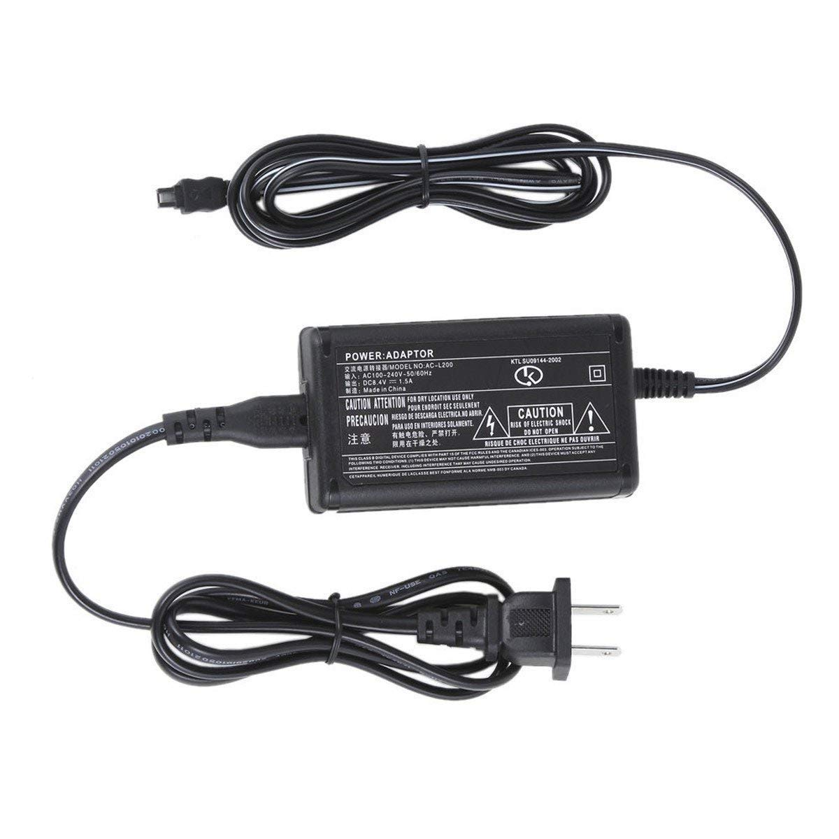 Antoble AC Adapter Charger for Sony Handycam DCR-SX40 DCR-SX43 DCR-SX44 DCR-SX45 DCRSX45 Power Supply anttrades L25B-A2