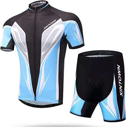 Fashion Mens Jersey Cycling Radtrikot Bicycle Jersey /& Cyclist Pants Short Sleeve M-XXL