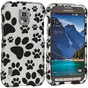 Accessory Planet(TM) Dog Paw 2D Hard Snap-On Design Rubberized Case Cover Accessory for Samsung Galaxy S5 Active by lolosakes
