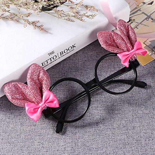 Ears Bunny Kids Frames Glitter Bowknots Glasses black Decoration Fancy Dress Black Easter XfqwxYf