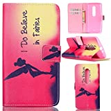 Motorola Moto X Play Case, Moto X Play Case,Gift_Source [I Do Believe in Faires]Luxury Wallet PU Leather Case Flip Cover Built-in Card Slots Flip case Pattern For Motorola X Play