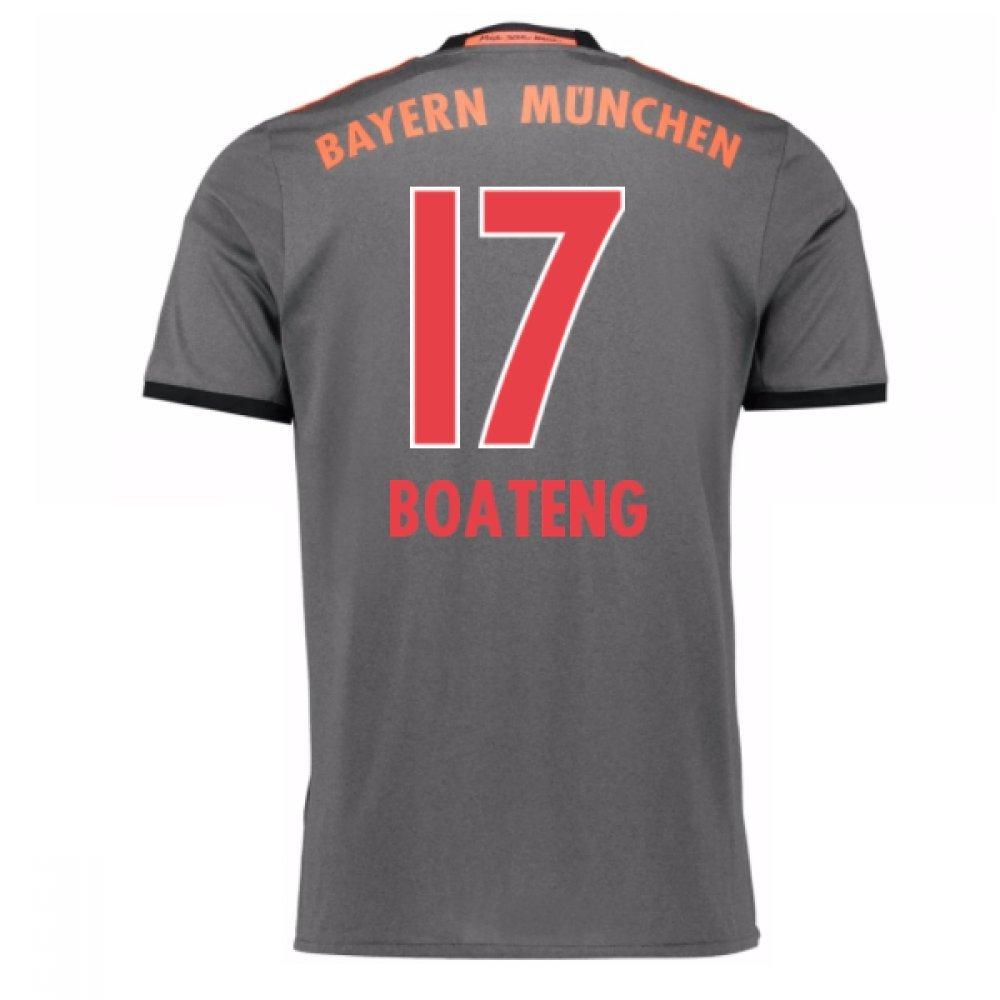 2016-17 Bayern Munich Away Football Soccer T-Shirt Trikot (Jerome Boateng 17)
