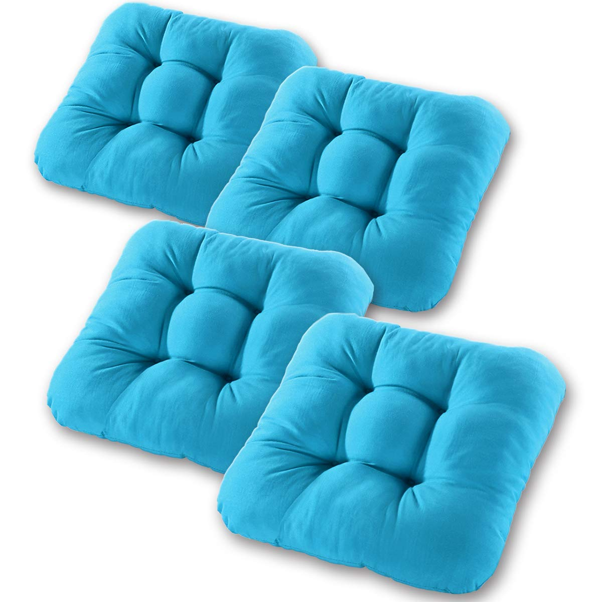 Cuscini per Sedie Set di 4 Cuscini Imbottiti per Sedie di Forma Rotonda per Cucina di Casa Sedie per Ufficio o Auto Cuscini In velluto a Coste di Cotone