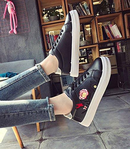 Fitness Imprimé Printemps Bas Minetom Occasionnel Chaussures Imperméable B Femmes Noir Baskets Intérieur Extérieur Rose Adulte gxw57a5qX