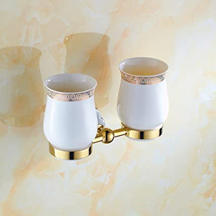 GZZ Accesorios Europeos Antiguos del Hardware del Cuarto de baño de la Porcelana Azul y Blanca