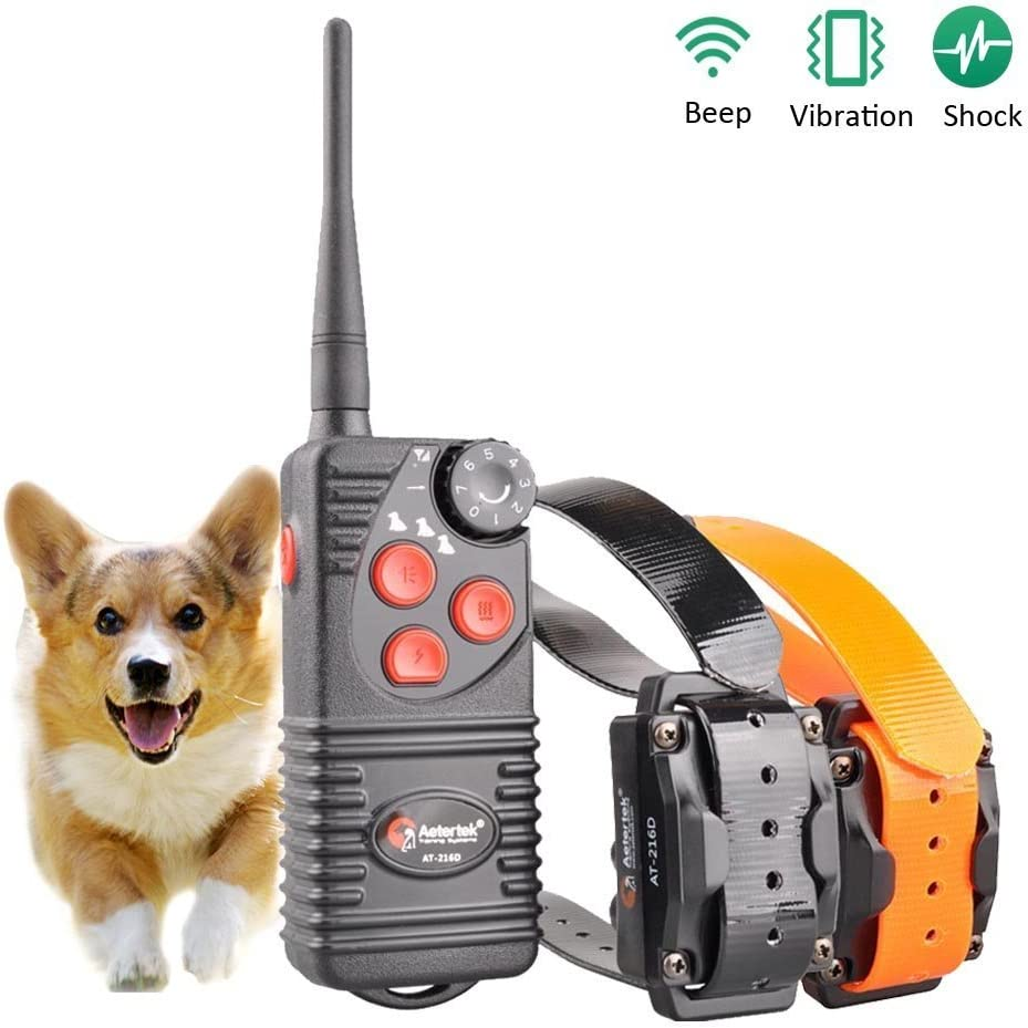 Aetertek Dog Training Shock Collar with remote Fully Waterproof 600 yards Range