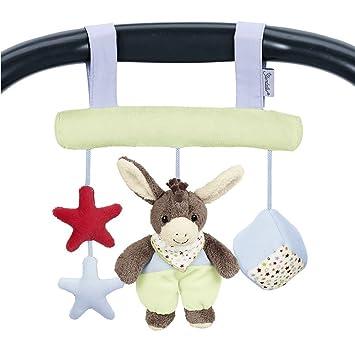 Sterntaler Spielzeug zum Aufh/ängen mit Klettverschluss Beige//Hellblau Alter: F/ür Babys ab der Geburt Inklusive Rassel Esel Emmi