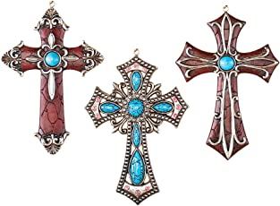 Collections Etc Western Hanging Cross Wall Decor