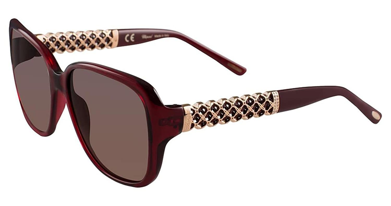 SCH184S women Chopard Geometric RED//BROWN SHADED acetate 58//16//135 0954 A