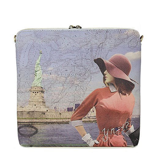 Y Not - Borsetta in tessuto e pelle Y Not Summerland New York - Bianco - D316.SUMMERLAND.NEW YORK - Bianc - UNICA