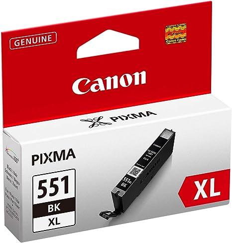 Canon CLI-551XL Cartucho de tinta original Negro XL para Impresora ...