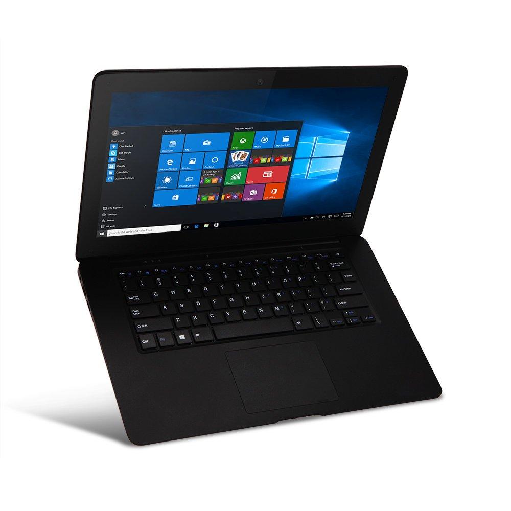 iRULU SpiritBook S1 Laptop, 14.1 Inch 1600x900 HD Display, 64-bit Intel Quad Core Processor, 2G DDR3, 32GB ROM, Webcam, WiFi, Bluetooth 4.0, HDMI, Windows 10 (S1 Black)