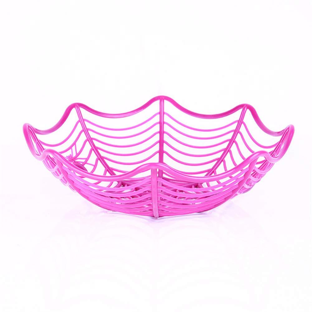 VALUEU Decorazioni di Halloween Spider Web Piatto di Frutta Creativo Candy Biscuit Cesto di Frutta KTV Bar Forniture