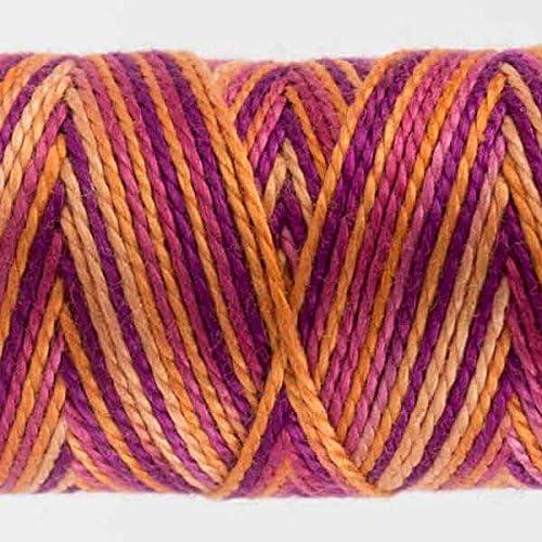 Flutterby #34 WonderFil Specialty Threads Sue Spargo Eleganza 2-ply #8 Perle Cotton Variegated