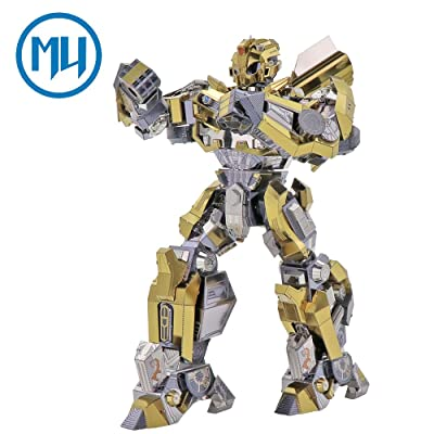 2018 MU 3D Metal Puzzle Transformers 5 Bumblebee Join Moveable The Last Knight Model YM-L036-C DIY 3D Laser Cut Assemble Jigsaw Toys For Audit