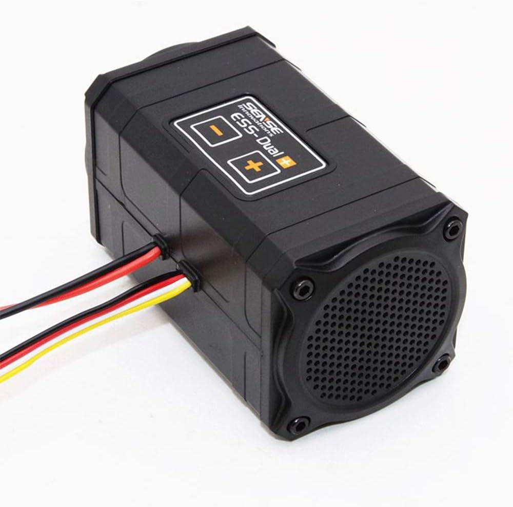 schwarz Dual ESS Sense Innovations Plus Motor-Sound-Simulator f/ür Axial SCX10//SCX10 II