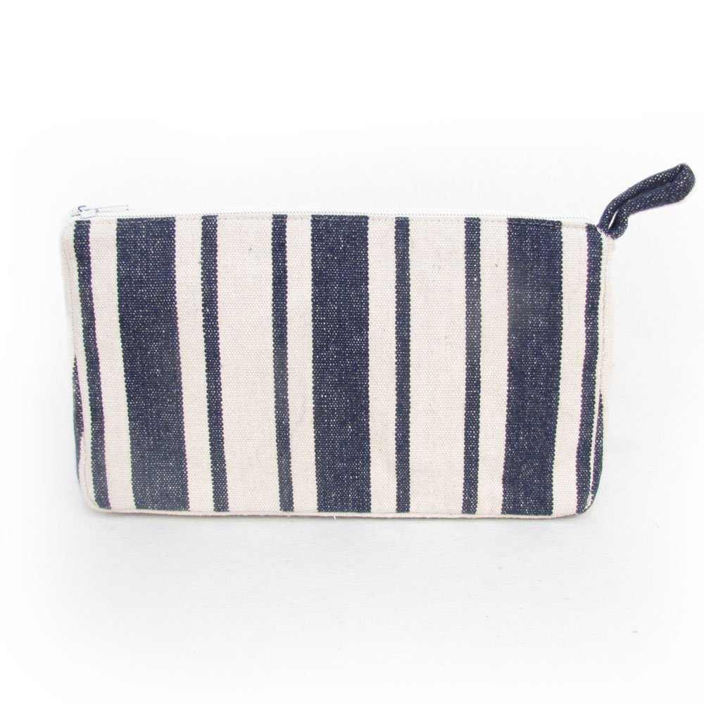 Seabrook Stripe Heavy Cotton Canvas Essential Oil Carry Case For 5ml-30ml Bottles by Rivertree Life