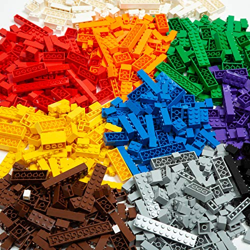 Play Platoon Building Bricks - Regular Colors - 1,000 Pieces Classic Bricks - Compatible with All Major Brands