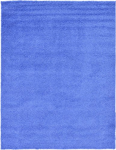 - Unique Loom Solo Solid Shag Collection Modern Plush Periwinkle Blue Area Rug (9' 0 x 12' 0)