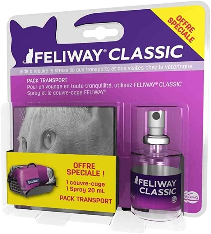 Feliway Travel Pack Spray + couvre-Cage para Gato Classic – 20 ML ...