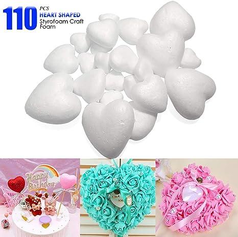 Polystyrene Valentine/'s Day Heart Foam Mould Styrofoam White Craft Balls