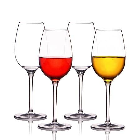 Copas de vino tinto irrompibles de Kuke, 100% plástico Tritan para ...