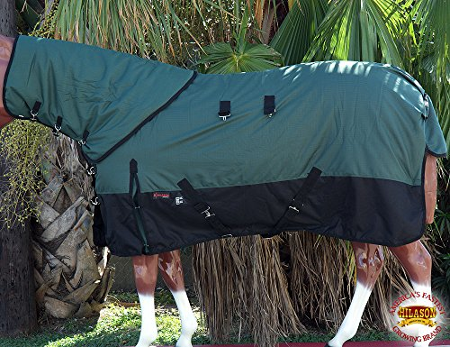HILASON 1200D WATERPROOF POLY TURNOUT HORSE BLANKET NECK COVER GREEN BLACK Neck Turnout Horse