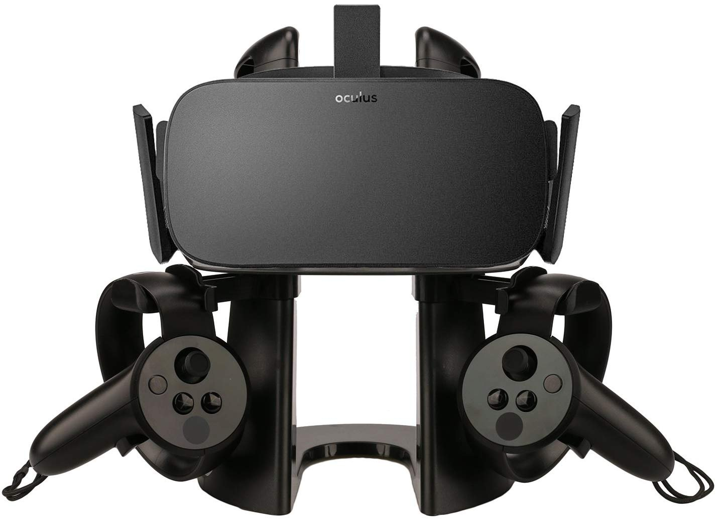 AFATIH VR Stand, Headset Display Stand for Oculus Rift or Rift S Headset with Touch Controller, VR Holder for Oculus Quest, HTC Vive & Vive PRO, Playstation VR and Other VR by AFAITH