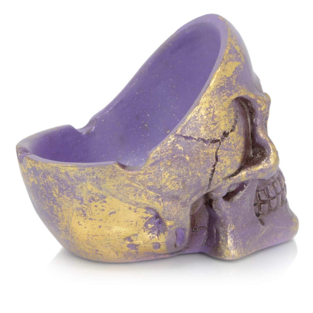 Posacenere a Forma di Teschio colorato Piquaboo per Interni ed Esterni Gold