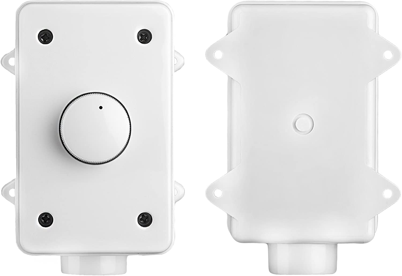 White Rotary Knob OVC100 Weather Resistant OSD Audio 100W Outdoor Volume Control