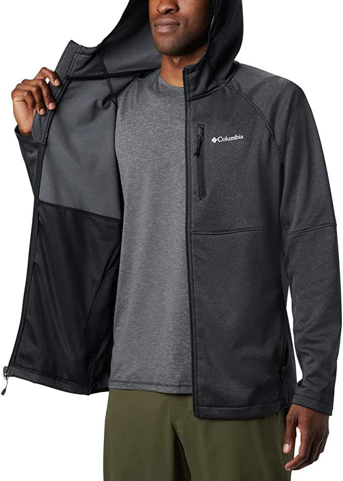 Columbia Outdoor Elements Fz Hd Training Zippered Hooded Jacket Mens Grey