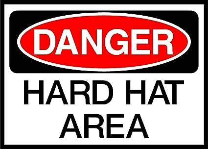 53e654eb6a955 Amazon.com  Hard Hat Area Danger OSHA   ANSI LABEL DECAL STICKER 10 ...