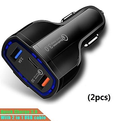 Zyx Cargador De Coche, Puerto Múltiple Cargador USB De ...