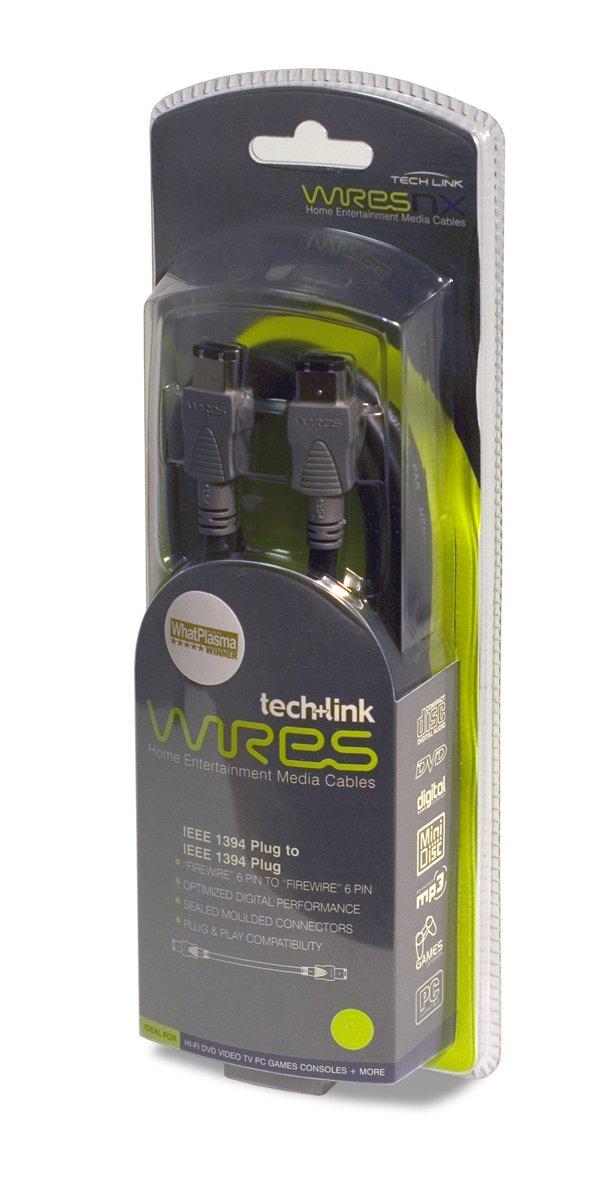 UK Import Techlink WiresNX Firewire-Kabel Firewire 400 6-Pin Stecker//Firewire 400 6-Pin Stecker, 2 m