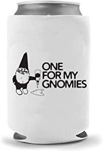 Pour One Out for my Gnomies | Funny Novelty Can Cooler Coolie Huggie | Beer Beverage Holder - Beer Gifts Home - Quality Neoprene No Fade Can Cooler